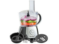 VonShef Food Processor Black Juicer Jug Blender Chopper Mixer Multi Function