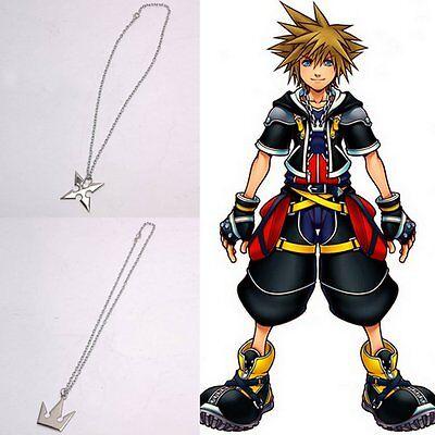 Kingdom Hearts Sora Crown Kaiserkro& Roxas Cross Halskette Anhänger Zwei Stücke