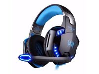 EasySMX Comfortable LED 3.5mm Stereo Gaming Headphone Headset Headband with Mic for PC Computer Game