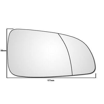 Right Hand Drivers Side Vauxhall Astra H 2004 2009 WIDE ANGLE Wing Mirror Glass
