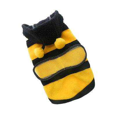 Funny Honey Bee Lovely Wings Dog Cat Pet Costume Outfit Apparel Clothes XL