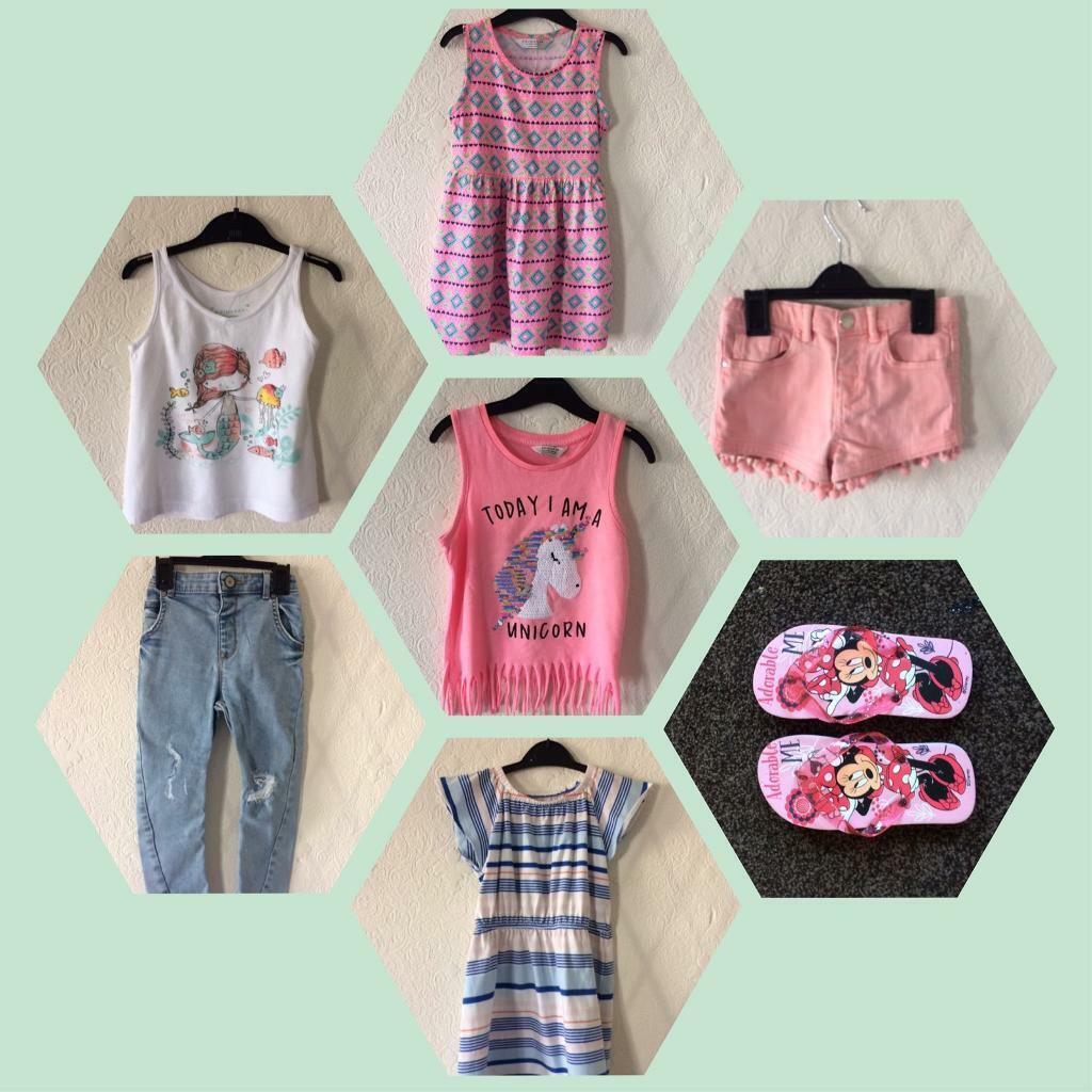0d574bf3b5a8 Girls age 3-4 years summer clothes bundle - 7 items