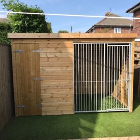 Large dog shed and run