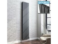 New Radiator 1800x376mm Double 3996BTU Anthracite Flat Panel Vertical