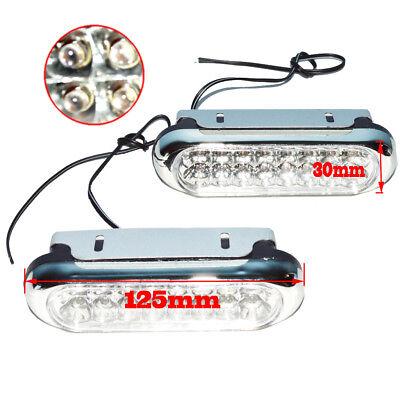2x Universal White 16 LED Car Daytime Running Light DRL Fog Day Driving LAMP 12V