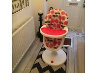 Cosatto 3sixti cherry design highchair £40