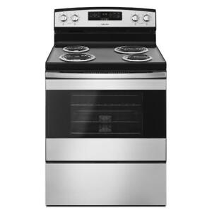 30-Inch Amana® YACR4303MFS Electric Range With Bake Assist Temps (BD-1618)
