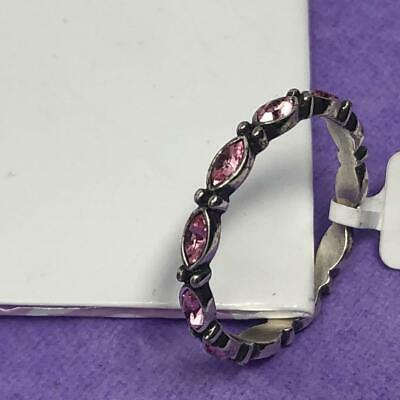 BRIGHTON STACKABLE SCALLOPED RING   pink/ SILVER  NWT  SIZE 9