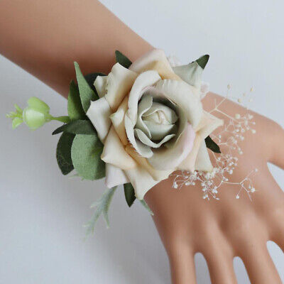 Wedding Party Prom Supplies, Corsage Wristlet Artificial Rose Hand - Prom Supplies