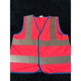 Kids protective hi- vis reflective vest. Age 7-9. Freel