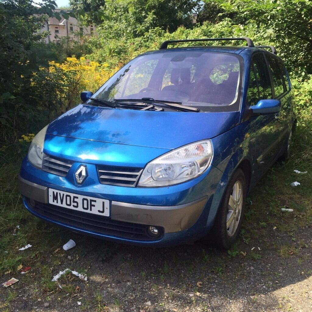Renault scenic 2 05 plate 7 seater