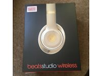 New Beats by Dr. Dre Studio Wireless 2.0 Gold Over Ear Headphones