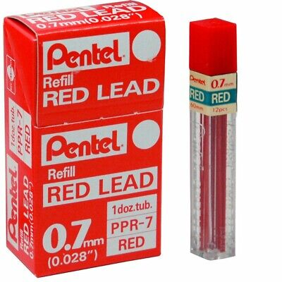 Pentel Colored Lead 0.7mm Red 12 Tubes12 Leads Per Tube Pentel Ppr-7red