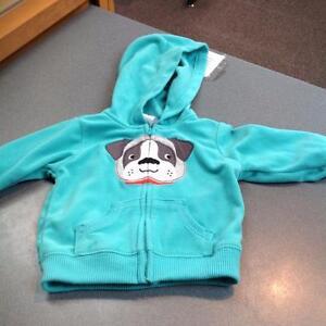 Kid's full zip fleece with hood - 6 months - (sku: LGQBP1)