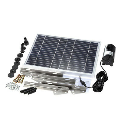 10W Fountain Submersible Water Power Solar Pump Garden Pond Pool Feature Kit