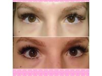 CENTRAL FINCHLEY EYELASH EXTENSION. TOP AND LOWER LASHES.