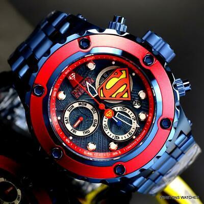 Invicta Reserve DC Comics Superman Specialty Subaqua Blue 52mm Swiss Watch New