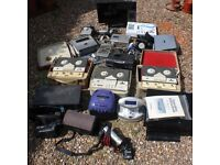 Large Lot of Faulty Electrical Items TV VCR Minidisc DAB Camcorder