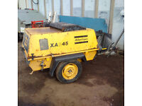 Atlas Copco XAS45 compressor. 2 cylinder Deutz engine.