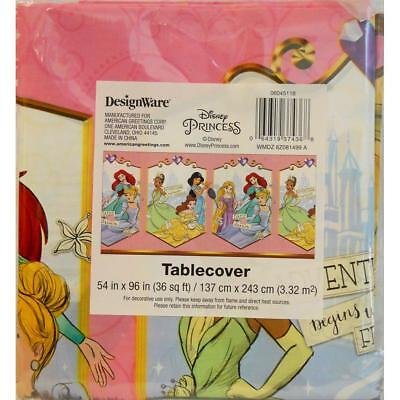 Disney Princess Sketchbook Plastic Tablecover Birthday Party Supplies New (Disney Princess Table Cover)