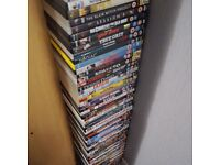70+ Various DVD cases (with inlays) in good condition for use as replacement or whatever