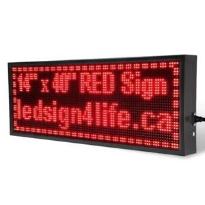14 x 40 Uni-Color Programmable Scrolling LED Sign Store Sign ** Hot Selling Products Price List **