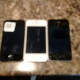 Apple Iphone 4 & 4s ( 3 phones)