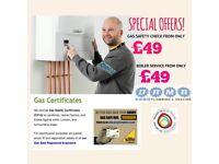 Gas Safety Certificate Landlord Gas Safety Certificate from £49. Boiler Service £49
