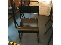 2 Black Wooden School Chairs