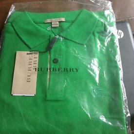 Mens Burberry polo shirt