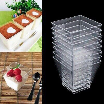 60ml Kunststoff Clar Mousse Kuchen Dessertbecher Einweg Dessert Cups Tassen