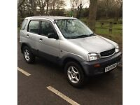 DAIHATSU TERIOS 1:3 - 4X4 HATCHBACK JEEP 5 DOOR NEW MOT-FOUR WHEEL DRIVE -
