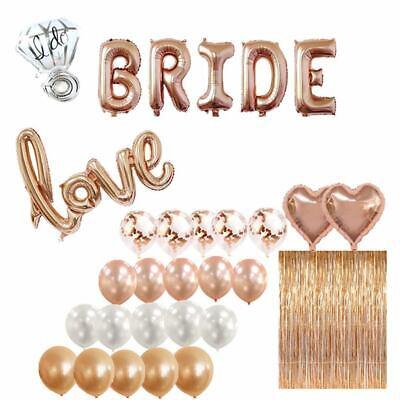 Bridal Shower & Bachelorette Party Decorations kit Rose Gold by ZAGGIE (32PCs)](Bridal Shower Decoration Kit)