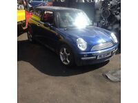 Mini one 2001 - 2006 breaking for parts 1.6 indi blue