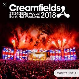 2x 4 day silver camp creamfields tickets!!