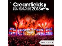 2x 4 day silver camp creamfields tickets!!
