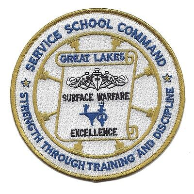 US Naval Service School Command GREAT LAKES ILLINOIS Military Patch DISCIPLINE