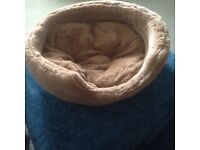 "NEW Soft RSPCA washable Faux Fur Pet Bed. Measurement 17""X 15""."