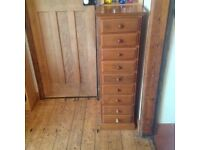 Solid wood tall chest of drawers