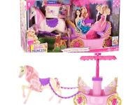 Barbies horse and carriage