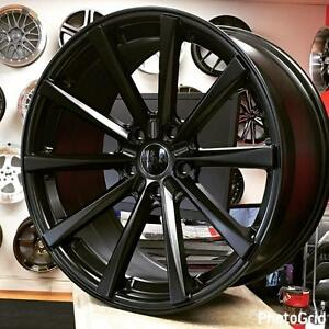 19x9 5x114.3 +40 CONCAVE Satin Black Rims for Honda Accord Mazda 3 Hyundai etc @905 673 2828 (4New wheels ) $800 CASH