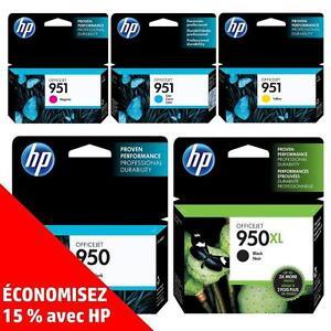 Cartouches d'encre noire et de couleur d'origine HP 950/950 – Achetez directement de HP et économisez! (15%)