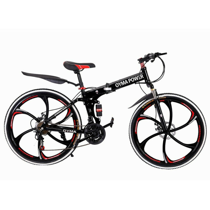 Mountain Bike 21 Speed 26 inch Folding Bike Double Disc Brak