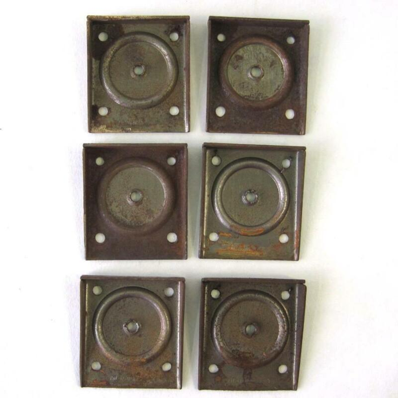 Vintage Table Leg Mounting Brackets Lot of 6 Rusty