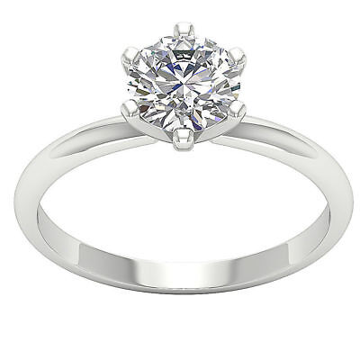 - 1.01 Ct Prong Set Round Diamond Jewelry Platinum Solitaire Engagement Ring Band