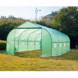 NEW 10 FT X 20 FT GREEN HOUSE METAL FRAME PLANT GROWING GARDENING