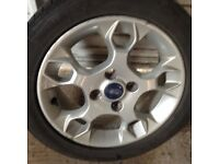 Alloys Ford with Goodyear tyre