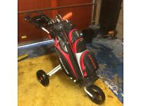 Nike Slingshot 4-PW, Benross Trolley Bag, iCart trolley, Scotty Cameron Detour Putter