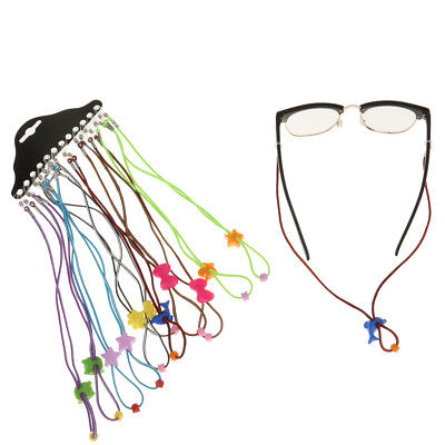12pcs Cute Style Adjustable Kids Eyeglass Cord Eyeglasses Strap Neck (Kids Eyeglass Holder)