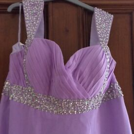 Bridesmaid/prom dress lilac size 14